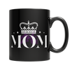 Black custom coffee mug 11OZ personalized mother's day present - mommyfanatic