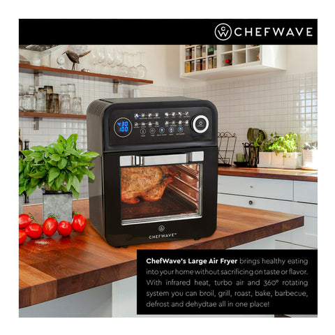 Image of 12.6 Quart Air Fryer built-in ninja power convection oven with dehydrator rotisserie - mommyfanatic