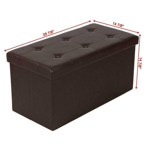 "Large foldable Ottoman footrest storage box coffee table - 30 x 15 x 15"" - mommyfanatic"