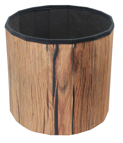 Image of Sorbus small storage cube ottoman foldable collapsible footstool  brown – tree stump - mommyfanatic