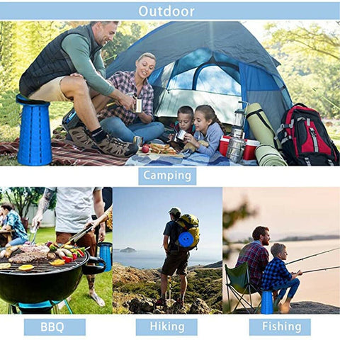 Portable retractable folding telescopic fishing camping chair stool gadget - mommyfanatic