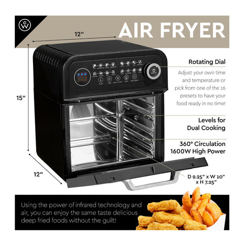 12.6 Quart Air Fryer built-in ninja power convection oven with dehydrator rotisserie - mommyfanatic