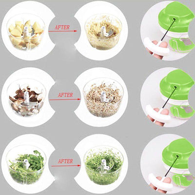 Manual Crank Food Chopper - mommyfanatic