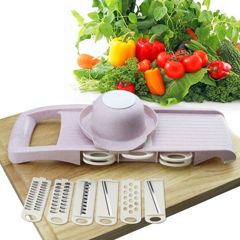 Mandoline vegetable slicer - pro vegetable slicer multifunction handheld cheese shredder cutter grater potato peeler - mommyfanatic