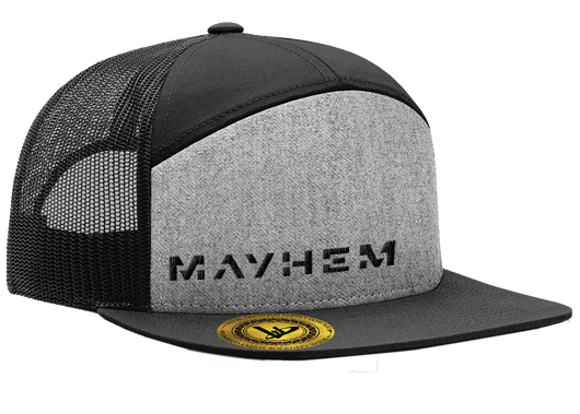 Mayhem 7-Panel Trucker Heather/Black Hat