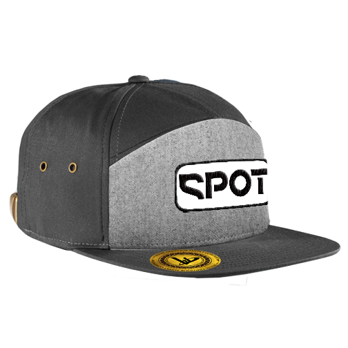 Spot Patch 7-Panel Heather/Black Hat