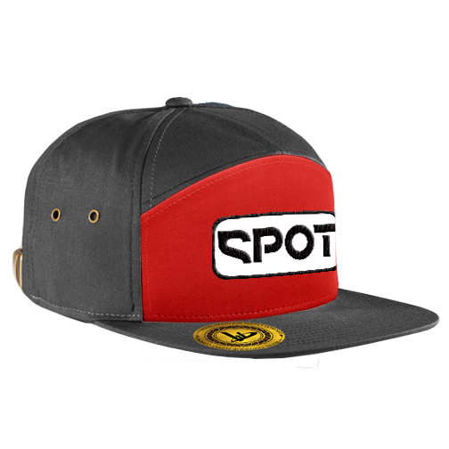 Spot Patch 7-Panel Red/Black Hat