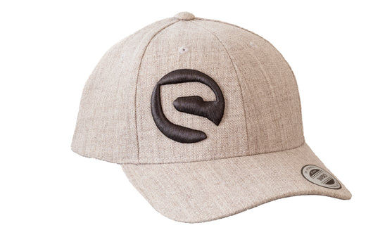 Premium Classic Curved Bill Snapback Hat - Heather Grey