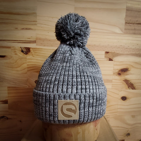 Premium Pom Beanie - Heather Grey