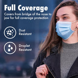 50 Disposable Masks + 2 Travel Hand Sanitizer
