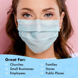 50 - Disposable Protective Face Masks