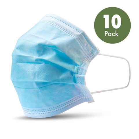 10 - Disposable Protective Face Masks