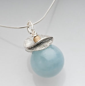 Acorn Aquamarine Necklace