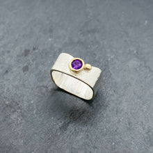 Load image into Gallery viewer, Amethyst Bezel Ring Size 8