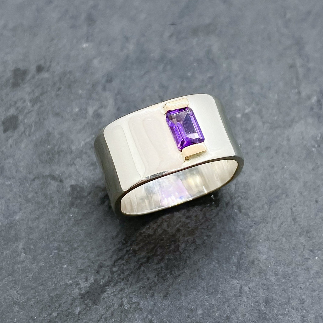 Amethyst Channel Ring Size 8