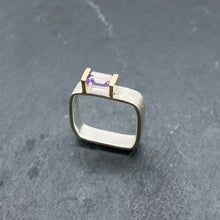 Load image into Gallery viewer, Amethyst Bridge Ring Size 8