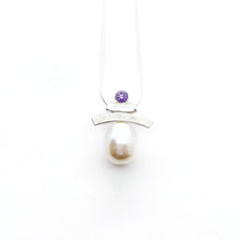 Load image into Gallery viewer, Semi-Precious Stones and Pearl Inukshuk Slider Necklace