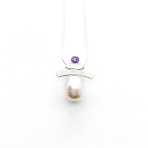 Semi-Precious Stones and Pearl Inukshuk Slider Necklace