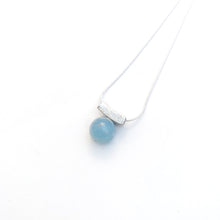 Load image into Gallery viewer, Balanced Aquamarine Slider Necklaces