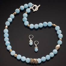 Load image into Gallery viewer, Acorn Aquamarine Necklace