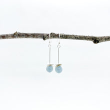 Load image into Gallery viewer, Mini Aquamarine Acorn Earrings