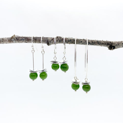 Mini BC Jade Acorn Earrings