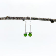 Load image into Gallery viewer, Mini BC Jade Acorn Earrings