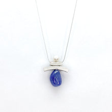 Load image into Gallery viewer, Balance Inukshuk Pearl and Tanzanite Necklace
