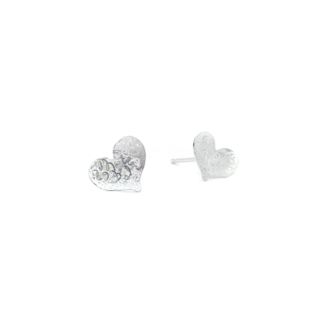 Big Heart Scribbled Studs
