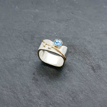 Load image into Gallery viewer, Blue Topaz Blossom Ring