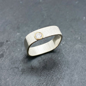 CZ Diamond Bezel Ring Size 11