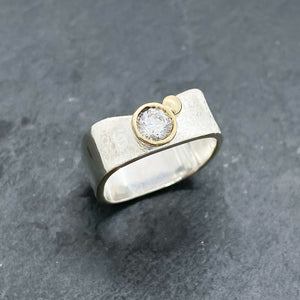 CZ Diamond Bezel Ring Size 4.5-9
