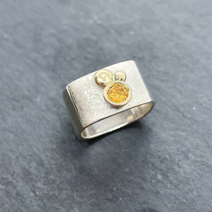Citrine Bezel Ring Size 7.5