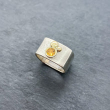 Load image into Gallery viewer, Citrine Bezel Ring Size 7.5