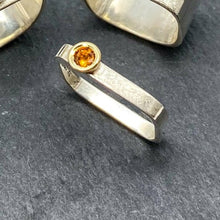 Load image into Gallery viewer, Citrine Bezel Stacking Ring Size 7.5