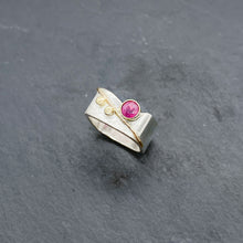Load image into Gallery viewer, Ruby Blossom Ring