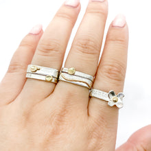 Load image into Gallery viewer, Medium Gold Wave or Gold Dot Stacking Rings