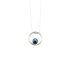 Balanced Double Ring Necklace