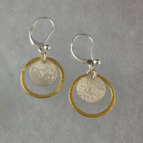 The Scribble Disc with Gold Ring Set