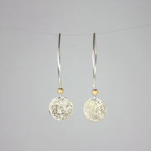 Load image into Gallery viewer, Scribbled Disc Earrings