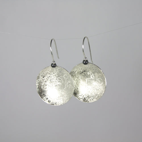 Balanced Scribbled Disc Earrings
