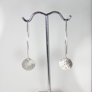 Scribbled Disc Earrings