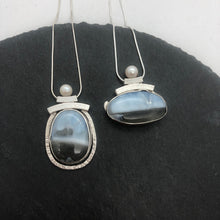 Load image into Gallery viewer, Picture Blue Opal necklace