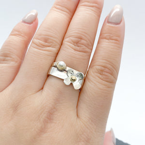 Skinny Pearl Stacking Ring