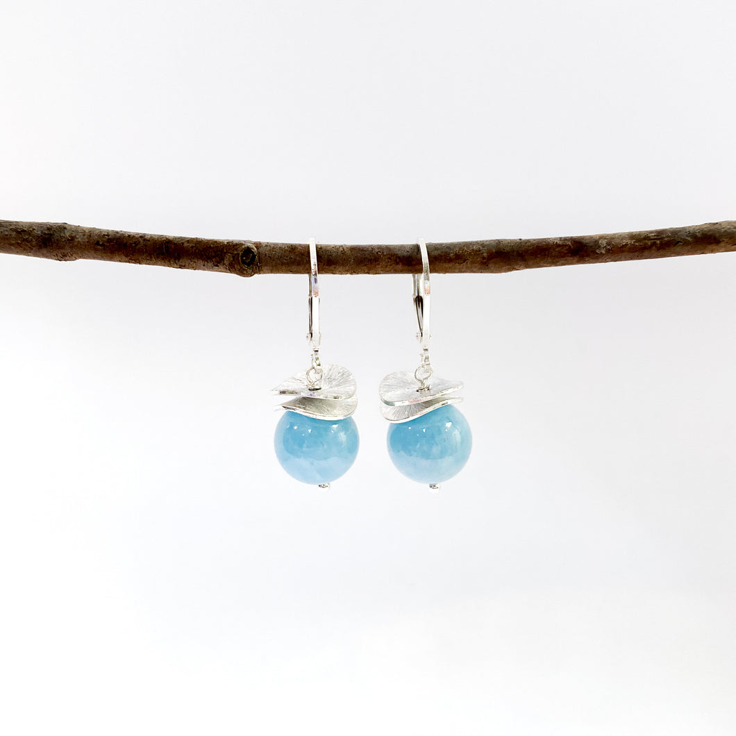 Acorn Aquamarine Earrings