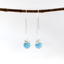 Load image into Gallery viewer, Acorn Aquamarine Earrings