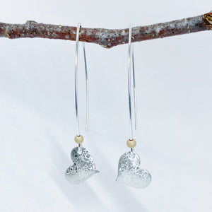 Scribble Hearts with Gold Detail Earrings