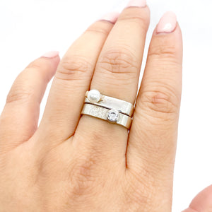 CZ Medium Stacking Ring