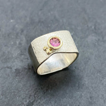 Load image into Gallery viewer, Pink Tourmaline Bezel Ring Size 6.5