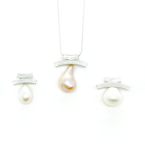 Pearl Double Slider Necklaces